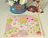 sweet pink and yellow hexie trivet