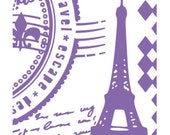 PARIS VINTAGE EMBOSSiNG by  COUTuRE CREATIONs AMBASSADOR Collection - Folder A2  - Rare Item !! IMPORTeD