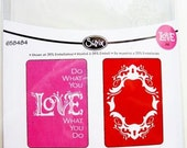 LOVE WHAT YOU Do  - Sizzix  Embossing Folder Set - A2 size - VALENTINEs Day or Many other uses
