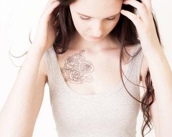 Classic Roses Temporary Tattoo