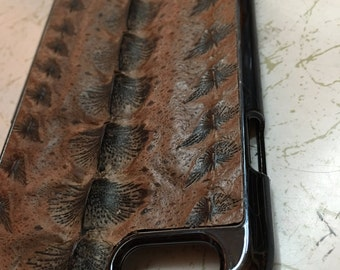 Exotic Amur Sturgeon Leather Custom Made iPhone 6s and 6s plus