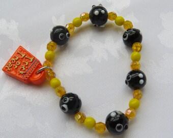 Glass Beads Spider Bracelet