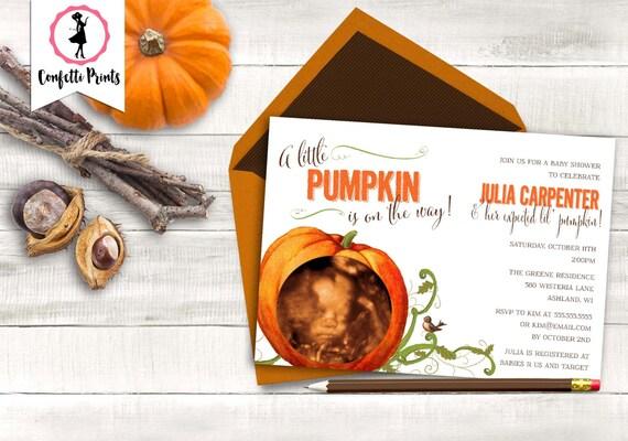 Pumpkin Shower Invite | Fall Baby Shower Invitation | Little Pumpkin Baby Shower Invitation | Little Pumpkin Shower | Printable