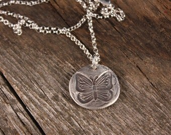Sterling Silver Butterfly Wax Seal Charm