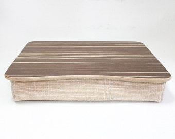 Pillow Bed Tray / iPad Table / Breakfast Tray / Breakfast Desk / Laptop Stand Zebrano Dark
