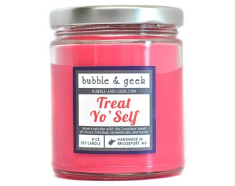 Treat Yo' Self Scented Soy Candle Jar