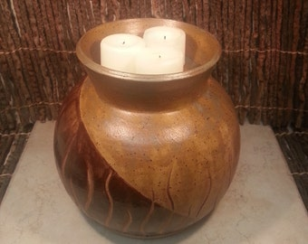READY TO SHIP - Pottery Cremation Urn - Wheel Thrown Clay - Keepsake Cremains Jar For Family Member or Pet Ashes -Igneous Grama -Up to 92 lb