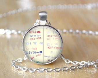 Library Due Date Necklace - Librarian Necklace - Library Necklace - Book Necklace - Book Lover Necklace - Gifts for Readers 171