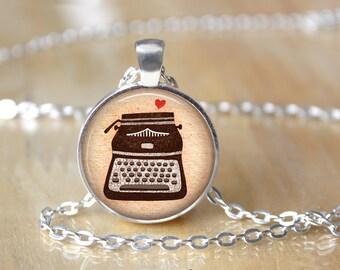 Typewriter Necklace - Typewriter Keys - Vintage Typewriter - Gifts for Writers - Journalist Necklace 172