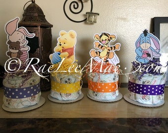 Good Winnie The Pooh Baby Characters Diaper Cake Minis/baby Tigger/baby Eeyore/ Baby