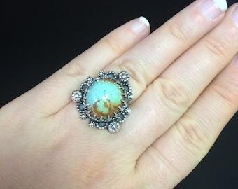 BMarieFleming Nevada Turquoise Southwest Bohemian Pastel Ring