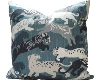 Decorative, Robert Allen Tiger, Midnight, Pillow Cover, 18x18, 20x20, 22x22 or Lumbar Throw Pillow