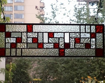 Modern Red Stained Glass Number 3