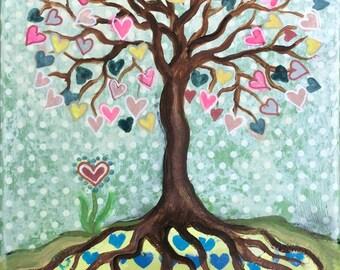 Love tree - Art Print 21 x 30 cm/ 8,3 x 11,8 in