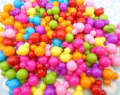 50 pcs mixed color plastic Mickey bead with hole
