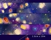 1 Roll of Limited Edition Washi Tape- Lanterns in the Sky
