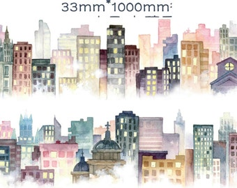 1 Roll Limited Edition Washi Tape: City in the Fog