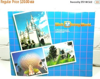 On Sale Price Walt Disney World Vintage Book. A Pictorial Souvenir Featuring The Magic Kingdom and EPCOT. Circa 1984. Family Gift. Disney Ge