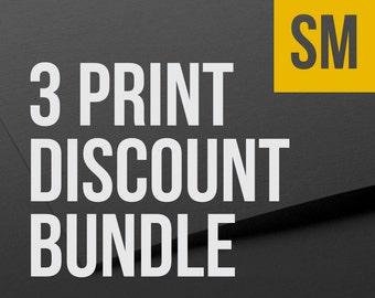 Choose any 3 SMALL prints as a bundle