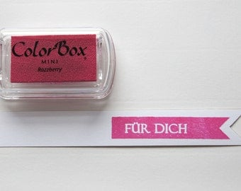 ♥ PINK - Razzberry pigment color stamp pads