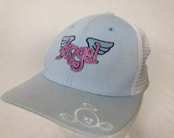 baby blue angel hat