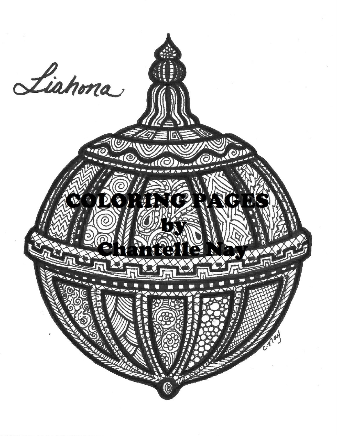 Coloring page Liahona LDS art adult coloring picture