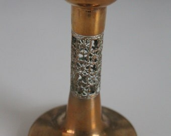 "Lovely Pentti Sarpaneva design ""Pitsi"" ""Lace"" tall bronze candle holder"