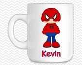 Spiderman Kids Mug - Personalized Spiderman Mug - Customized Mug - Melamine Cup - Personalized Kids cup