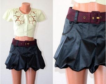 Vintage Satin Tulip Skirt plus FREE BELT, size M-L  /36-38/