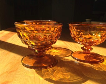 3 Yellow Drinking Glasses