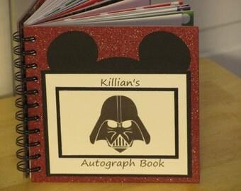 Disney Autograph Book  STAR WARS Darth Vader Scrapbook Boy or Girl Keepsake