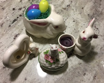 Vintage Avon Ceramic bunny large one in photo