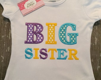 Big Sister Appliqued Shirt