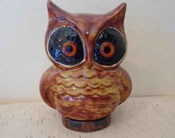 ON SALE Vintage Ceramic Owl made in 1970