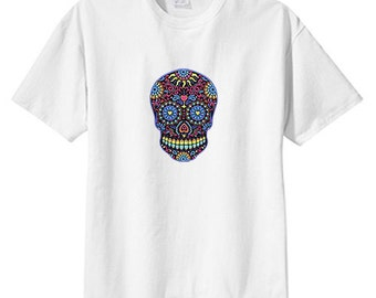 Sugar Skull Neon New T Shirt s m l xl 2x 3x 4x 5x Day of the Dead