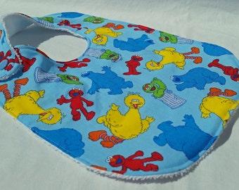 Sesame Street Bibs - Big Bird, Elmo, Cookie Monster, Oscar Bib - Baby Boy or Girl - Made to Order