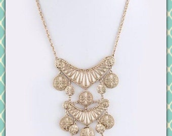 Statement Gold Coin Necklace