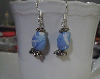 Blue Easter Egg Earrings - Free shipping