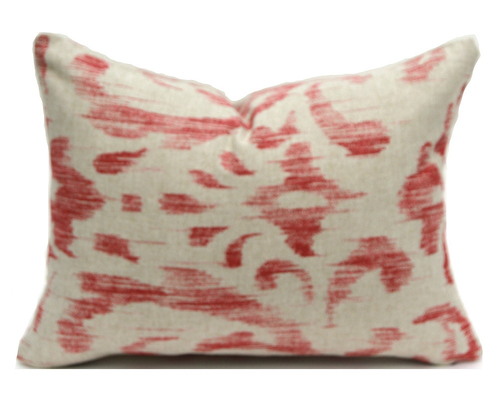 Throw Pillows In Clearance : CLEARANCE SALE Lumbar Pillow Decorative Pillow Cover Red