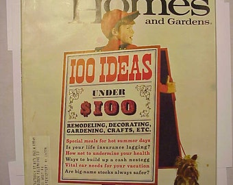 July 1967 Better Homes and Gardens Magazine  has 132 pages of ads and articles
