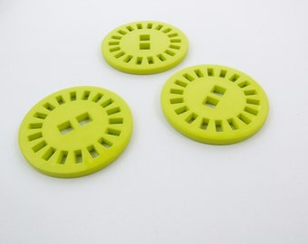 39mm Sun Dial Buttons - Lime [B0318]