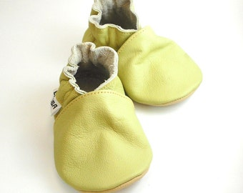 soft sole baby shoes infant kids children olive 6-12 m ebooba OT-14-O-M-2