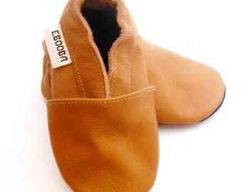 soft sole baby shoes leather infant kids gift brown 18 24 m ebooba 19-4