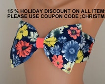 PADDED ..THINER BACK. Floral bow bandeau bikini top with removable neck strap-Bow bikini top-Bow bandeau bikini-Women's swimwear