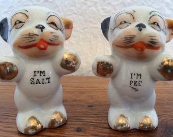 Vintage Bonzo Dog Salt & Pepper Shakers