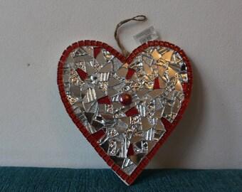 heart mosaic 25x24cm