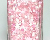 Pink Snow Cakes - *NEW* - handmade holiday glitter nail polish