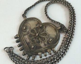 tribal necklace / boho necklace / vintage ethnic necklace / vintage tribal necklace / long chain necklace