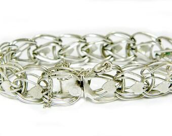 Sterling Silver Charm Bracelet Heart New Beginning Love Starter Charm Bracelet Vintage Jewelry SALE Coupon Sparkle2016 For 15% Discount