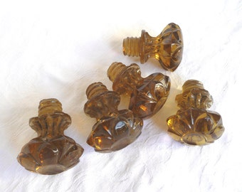 antique glass door knobs amber glass knobs vintage amber cut glass cupboard knobs
